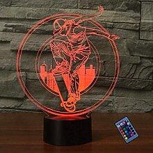 Optische Täuschung 3D Skateboard Nacht Licht 16