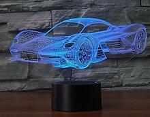 Optische Täuschung 3D Sportwagen Nacht Licht 7