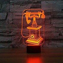 Optische Täuschung 3D Telefon Nacht Licht 7