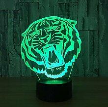 Optische Täuschung 3D Tiger Nacht Licht 7 Farben