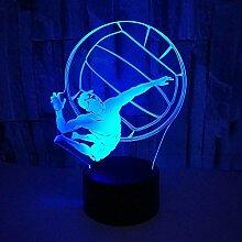 Optische Täuschung 3D Volleyball Nacht Licht 7