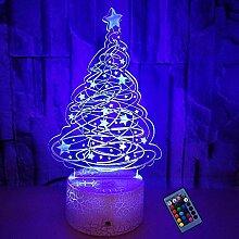 Optische Täuschung 3D Weihnachtsbaum Nacht Licht