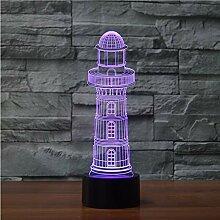 Optische Täuschungslampe Leuchtturm 3d Lampe