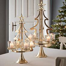 Opulenter Tannenbaum-Kerzenleuchter in festlichem