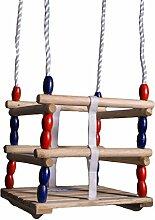 Oramics Babyschaukel Schaukel aus Holz Gitterschaukel 30 x 30cm