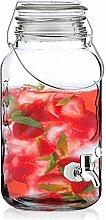 Oramics Getränkespender aus Glas mit Zapfhahn –