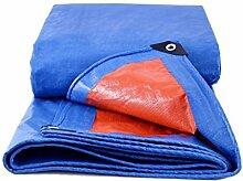 Orange + blaue Plane-wasserdichte Tuch-Sonnenschutz-Markise Ultra-leichter Dreirad-LKW-Markisen-Plane-Schatten-Überdachungs-Tuch-kundenspezifisches Verschiffen, Stärke 0.32mm, 160g / m2, 16 Größen-Wahlen ( größe : 3*5 )