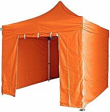 orange Faltpavillon 4x8m + Seitenteilen 50mm