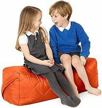 Orange, gesteppte, wasserabweisende rechteckig Sitzsack