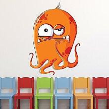 Orange Monster Wandaufkleber Halloween Wandtattoo Kinder Schlafzimmer Haus Dekor Erhältlich in 8 Größen Extraklein Digital