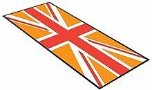 Orange runner Union Jack design, ideal für Zuhause, shop, bar, cocktail, party, Werbemittel