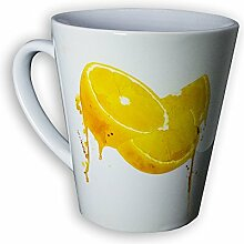 Orange Tasse Latte Tee - Designer Tasse aus brillanten Porzellan - Geschenkidee, Sammeln