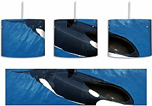Orca im blauen Meer inkl. Lampenfassung E27, Lampe
