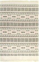 Orcus Handgemachter Kelim Baumwolle Grauer Teppich