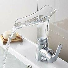 Ordertown Badezimmer-Wasserfall-Wasserhahn,