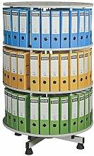Ordner-Drehsäule | 3 Etagen | 72 Ordner | Certeo