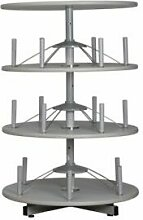 Ordnerdrehsäule | 3 Ordnerhöhen | HxØ 126 x 80