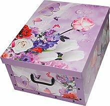 Ordnungsboxen 2er Set Deko Karton Clip Motiv