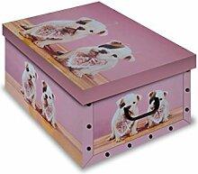 Ordnungsboxen 4er Set Deko Karton Clip Motiv