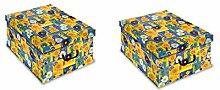 Ordnungsboxen Deko Karton Clip 2er Set Motiv
