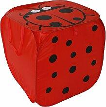 Ordnungshelfer Faltbox Marienkäfer rot Wäschebox