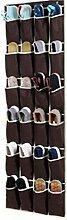 Ordnungssysteme Hängeorganizer an der Tür mit 24 Taschen, Hängeaufbewahrung, Schuhschränke, Multifunktionale Aufbewahrungstasche (Braun)