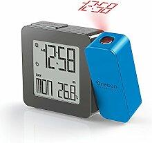 OREGON SCIENTIFIC PROJI Uhr mit Projektion und Dual Alarm Wecker, Kunststoff, blau, 10.8x 2.6x 7.7cm