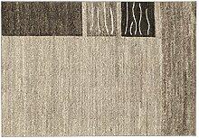 ORGANICAL CHEVRON moderner Woll Teppich Wollsiegel
