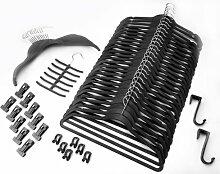 Organisations-Set 57 Teile SCHWARZ / Raumspar Magic Kleiderbügel Smar