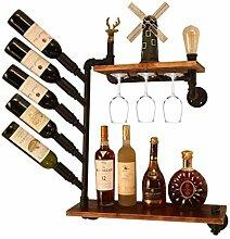 Organisieren Sie Küche Industriestil Weinregal