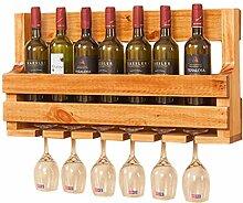 Organisieren Sie Küchenwand Weinregal Holz
