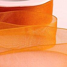 Organzaband, 25 mm, 46 m, Orange, 1 Stück