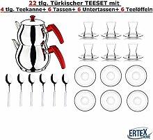 Orginal türkisches Tee Set Teeset 22 TLG./ 6