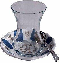 Orient-Feinkost 18 TLG. Türkisches Tee Set mit