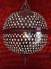 Orient Marokko Messing Lampe safiye - silberfarbig