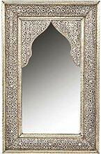Orient Spiegel Wandspiegel Fadia 80cm groß Silber