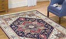Orient Teppich Heriz Klassisch Teppich RUBINE 304-blu Cm.160x230 blau