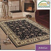 Orient Teppich Kollektion Marrakesh - Orientalisch-europäische Designs / klassisch und modern (300 x 400 cm, Troja / Schwarz 0210 )
