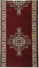 Orient-Teppich Läufer Marokko Bilder rot - versandkostenfrei schadstoffgeprüft pflegeleicht antistatisch robust strapazierfähig schmutzabweisend Flur Diele Treppenhaus Wohnzimmer Schlafzimmer, Größe auswählen:80 x 250 cm