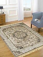 Orient Teppiche Perser Dessin Teppich Living Teppich RUBINE 317-grau 140X190