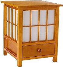 Oriental Furniture Hokkaido Lampe mit Schublade,