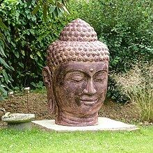 Oriental Galerie 1,2 Meter Buddha Kopf Groß Stein