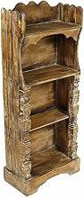 Oriental Galerie Regal Albesiaholz leichtes Bücherregal Standregal Holz Asien Shabby Chic Schnitzerei Braun 118 cm