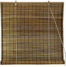 Oriental Möbel Burnt Bambus Roll Up Fenster Rollos, Schildkröte, 122cm brei