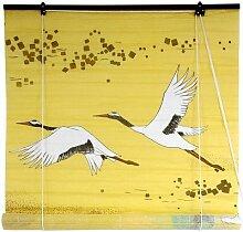Oriental Möbel Kraniche Shoji Fenster Rollos, 122cm gelb
