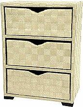 Oriental Möbel Natur Faser Kommode–DREI