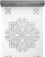 orientalisch Tischband/ Tischläufer weiß silber