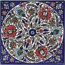 Orientalische Fliese handbemalte Keramikfliese Isa