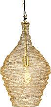 Orientalische Hängelampe Gold 30 cm - Nidum