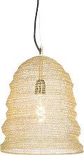 Orientalische Hängelampe Gold - Nidum Garza